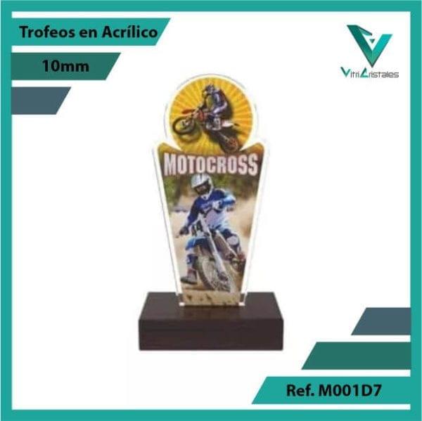 Trofeos en Acrilico Ref 001 F MOTOCROSS