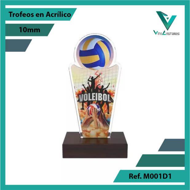 Trofeos en Acrilico Ref 001 F Voleibol 1