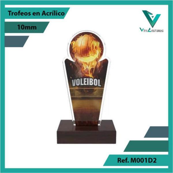 Trofeos en Acrilico Ref 001 F Voleibol