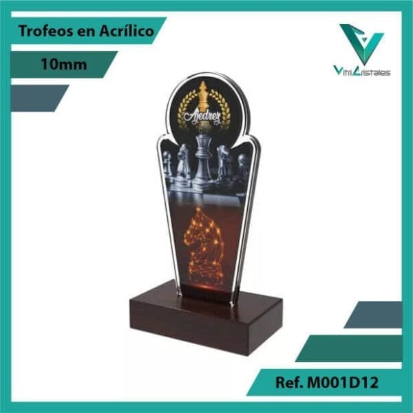 Trofeos en Acrilico Ref 001 L AJEDREZ