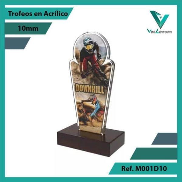Trofeos en Acrilico Ref 001 L DOWNHILL