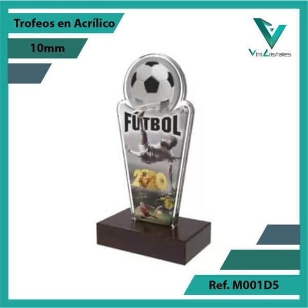 Trofeos en Acrilico Ref 001 L FUTBOL 1