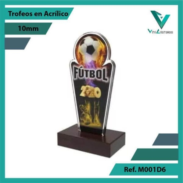 Trofeos en Acrilico Ref 001 L FUTBOL 2