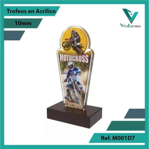 Trofeos en Acrilico Ref 001 L MOTOCROSS