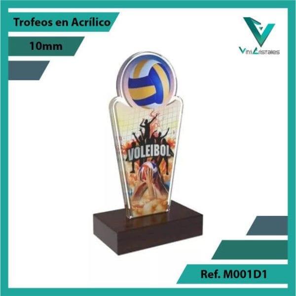 Trofeos en Acrilico Ref 001 L Voleibol 1
