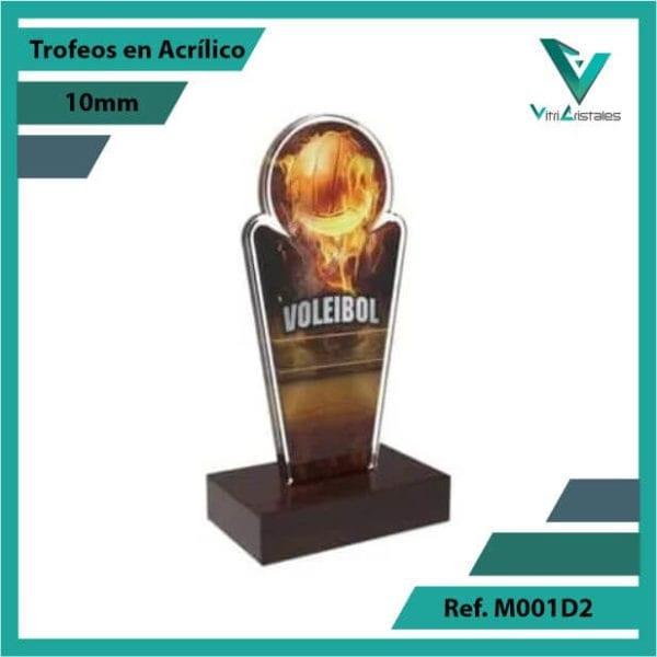 Trofeos en Acrilico Ref 001 L Voleibol