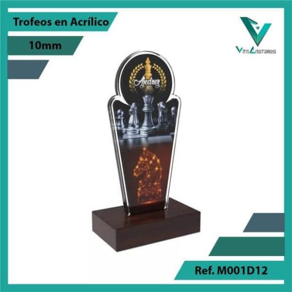 Trofeos en Acrilico Ref 001 R AJEDREZ