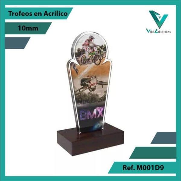Trofeos en Acrilico Ref 001 R BMX