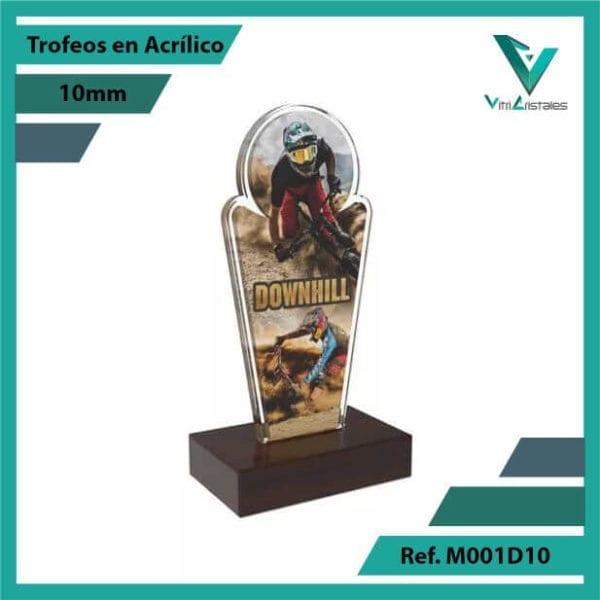 Trofeos en Acrilico Ref 001 R DOWNHILL