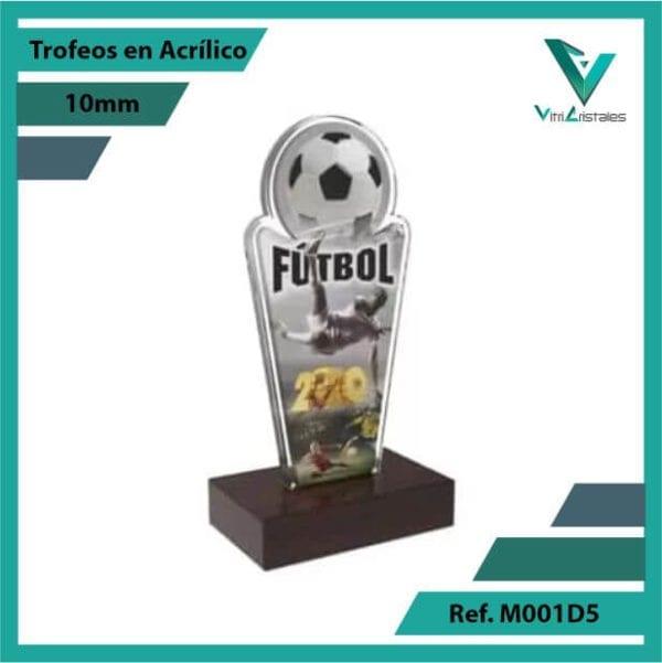 Trofeos en Acrilico Ref 001 R FUTBOL 1