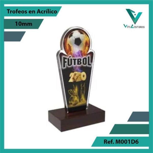 Trofeos en Acrilico Ref 001 R FUTBOL 2