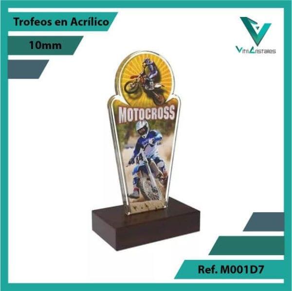 Trofeos en Acrilico Ref 001 R MOTOCROSS