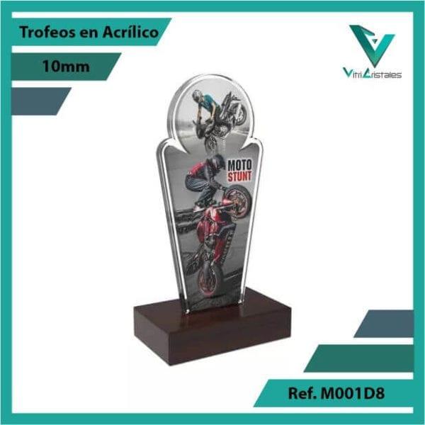 Trofeos en Acrilico Ref 001 R STUNT