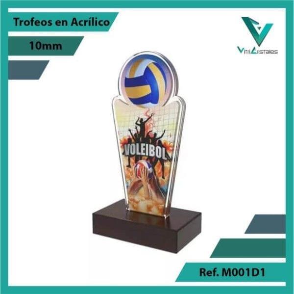 Trofeos en Acrilico Ref 001 R Voleibol 1
