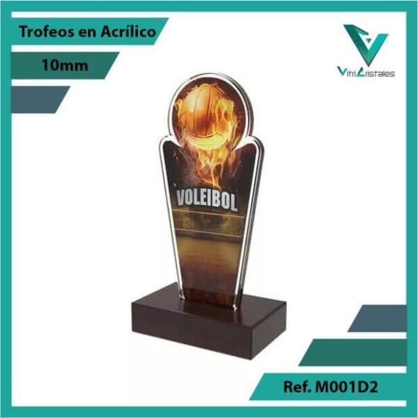 Trofeos en Acrilico Ref 001 R Voleibol