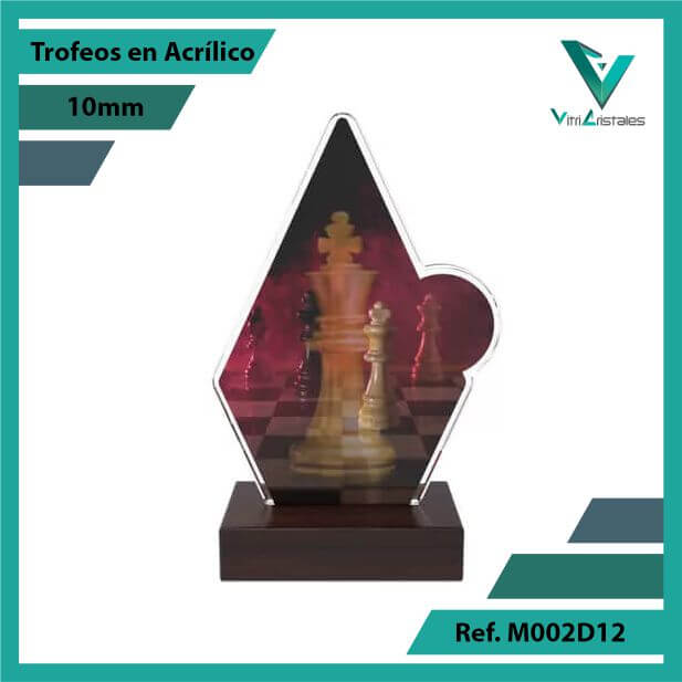 Trofeos en Acrilico Ref 002 F AJEDREZ