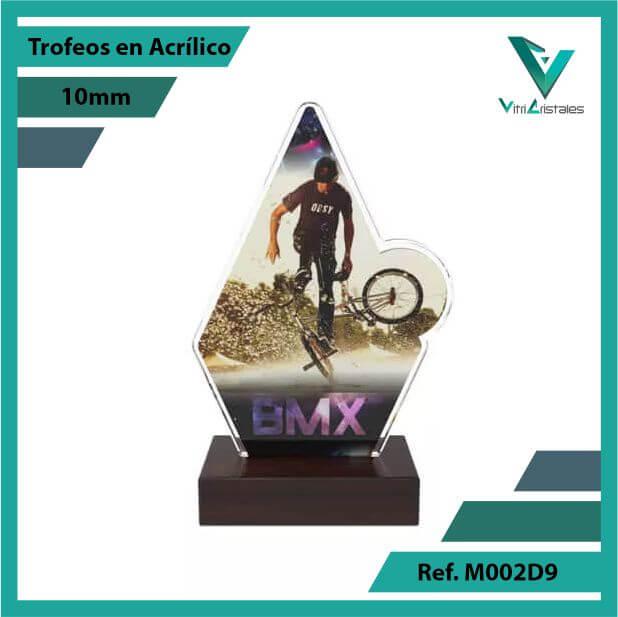 Trofeos en Acrilico Ref 002 F BMX