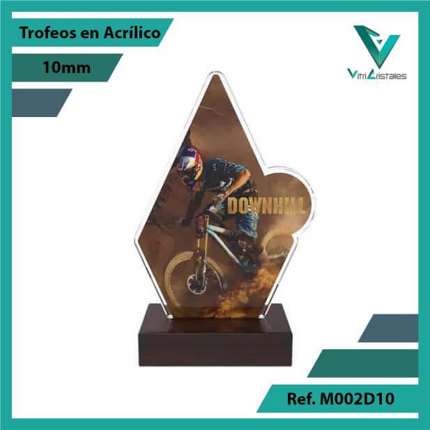 Trofeos en Acrilico Ref 002 F DOWNHILL