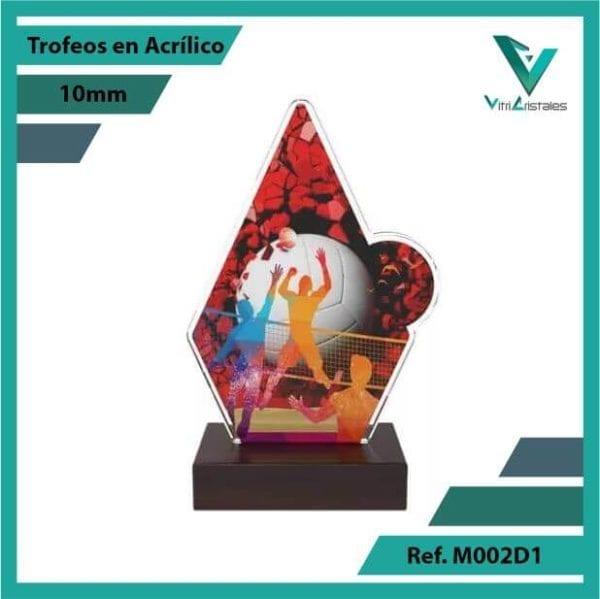 Trofeos en Acrilico Ref 002 F Voleibol