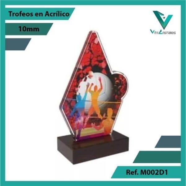 Trofeos en Acrilico Ref 002 L Voleibol