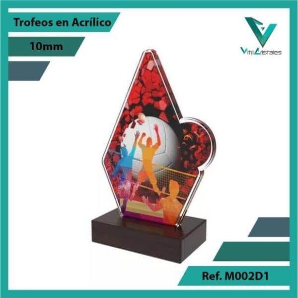 Trofeos en Acrilico Ref 002 R Voleibol
