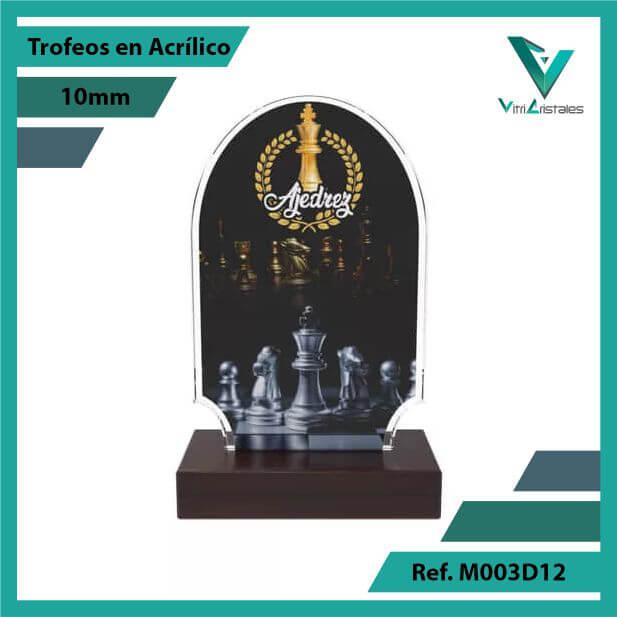 Trofeos en Acrilico Ref 003 F AJEDREZ