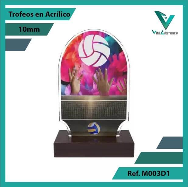 Trofeos en Acrilico Ref 003 F VOLEIBOL 1