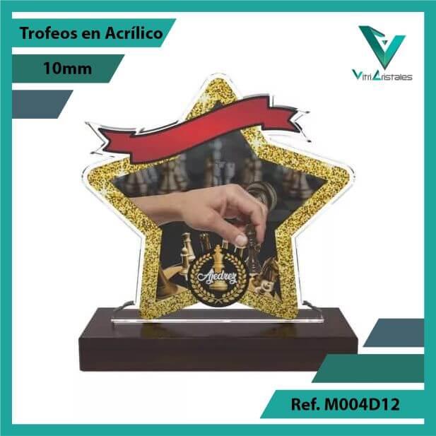Trofeos en Acrilico Ref 004 F AJEDREZ