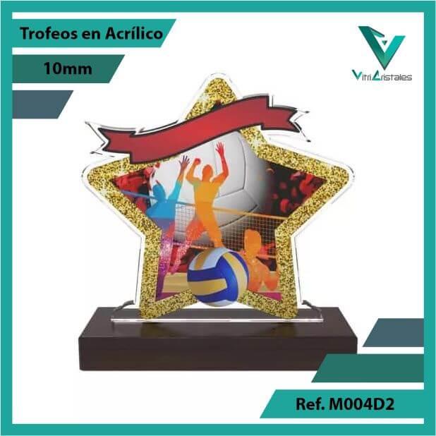 Trofeos en Acrilico Ref 004 F VOLEIBOL