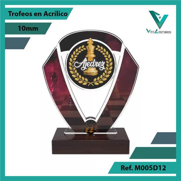 Trofeos en Acrilico Ref 005 F AJEDREZ