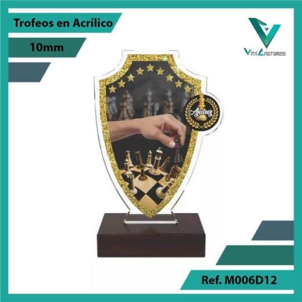 Trofeos en Acrilico Ref 006 F AJEDREZ