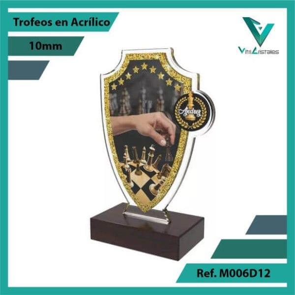 Trofeos en Acrilico Ref 006 L AJEDREZ