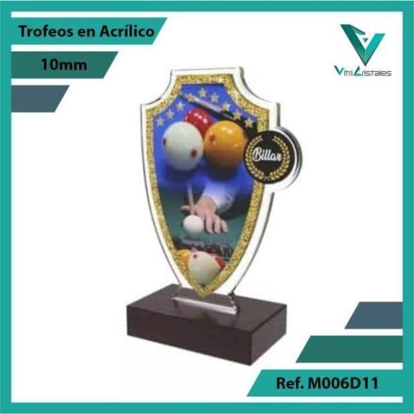 Trofeos en Acrilico Ref 006 L BILLAR