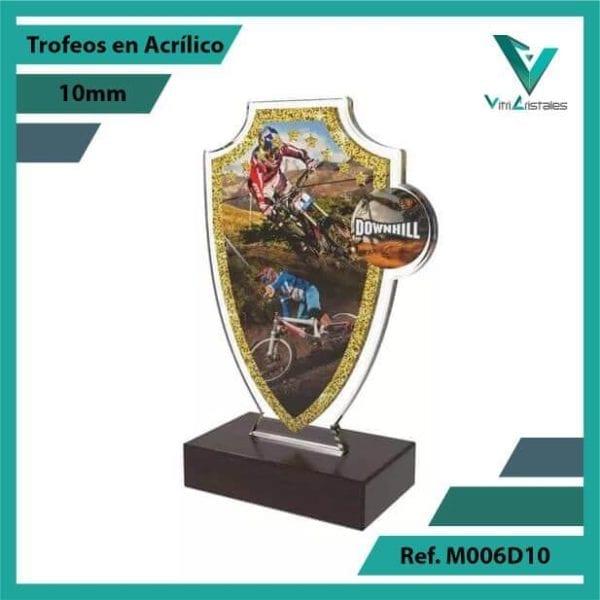 Trofeos en Acrilico Ref 006 L DOWNHILL