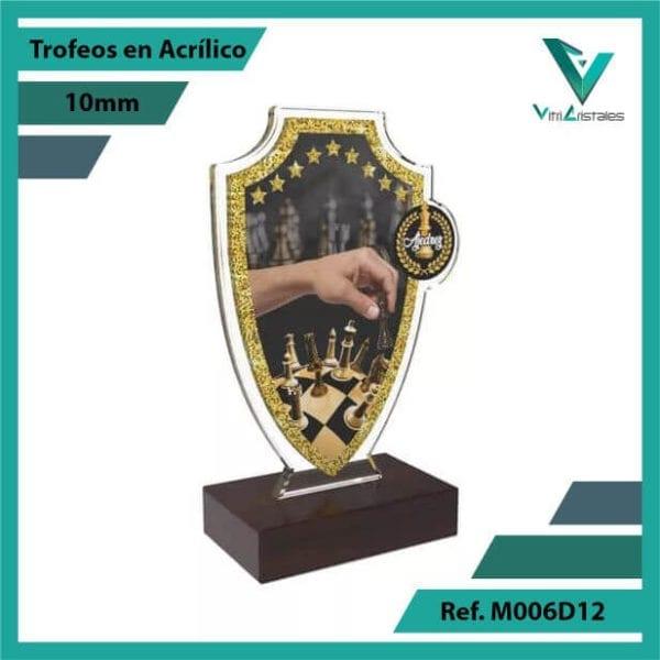 Trofeos en Acrilico Ref 006 R AJEDREZ