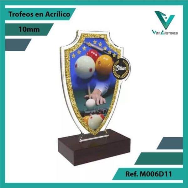 Trofeos en Acrilico Ref 006 R BILLAR