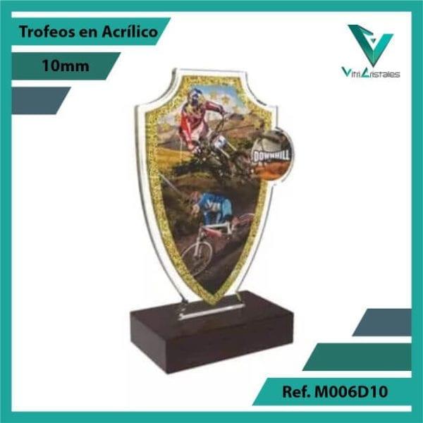Trofeos en Acrilico Ref 006 R DOWNHILL