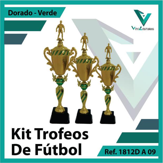 Kit Trofeos de futbol campeon, subcampeon y tercer puesto Ref. 1812DA09K123ORV para entrega en Bogotá, Medellin, Cali o para envio a todo el pais