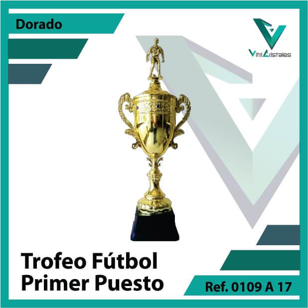 Trofeos deportivos de futbol campeon Ref.0109A171ORO para entrega en Medellin