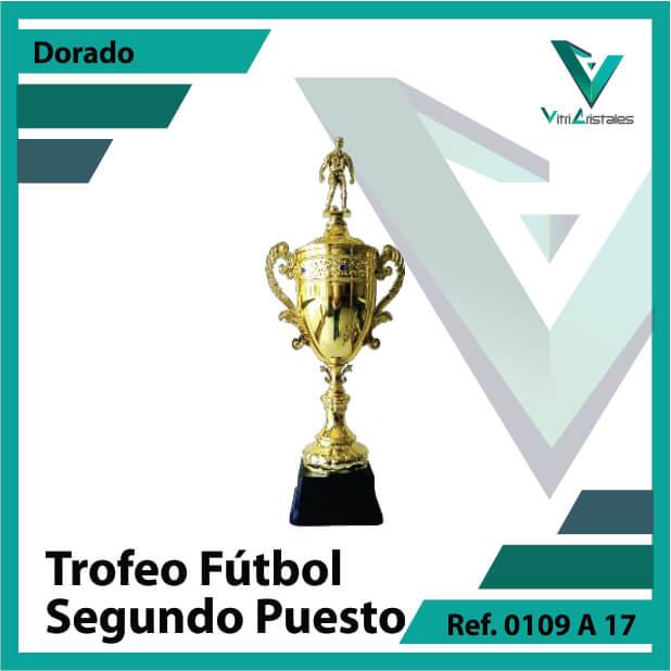 trofeo de futbol 0109a17 dorado segundo puesto