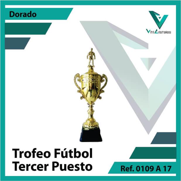 Trofeos deportivos de futbol tercer puesto Ref.0109A173ORO para entrega en Cali