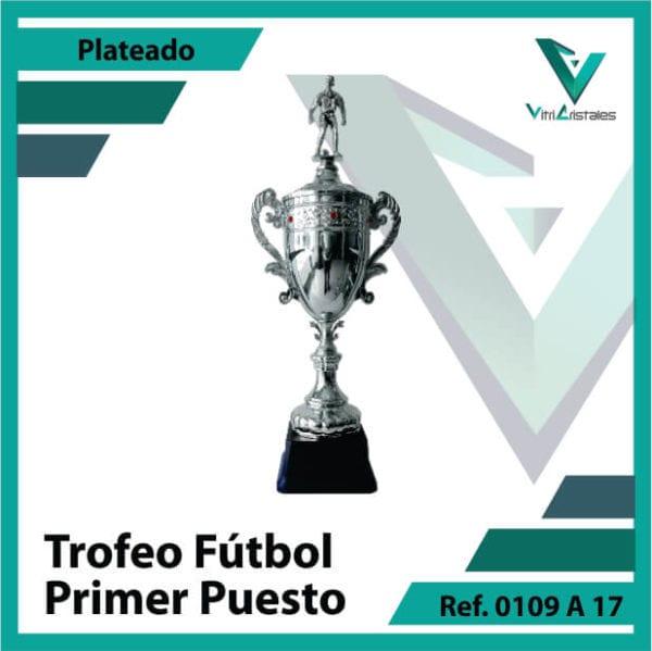 Trofeos de futbol campeon Ref.0109A171PLA para entrega en Bogotá, Medellin, Cali o para envio a todo el pais
