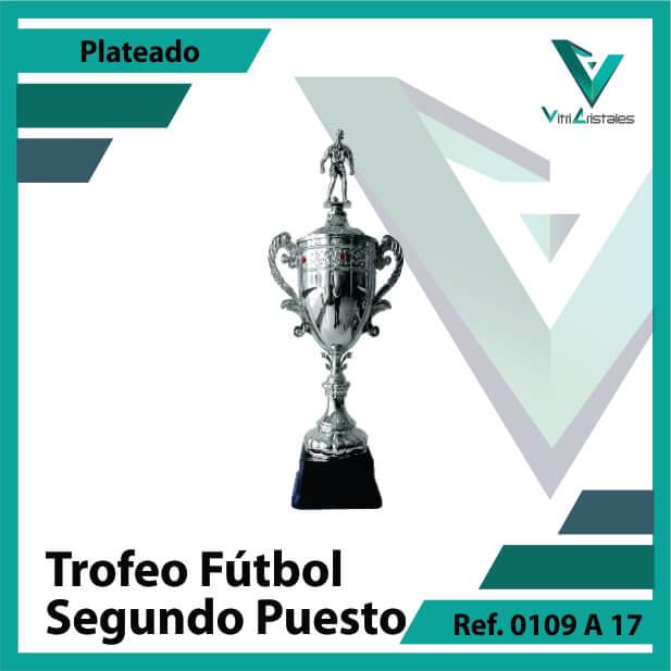 Trofeos de futbol subcampeon Ref.0109A172PLA para entrega en Bogotá, Medellin, Cali o para envio a todo el pais