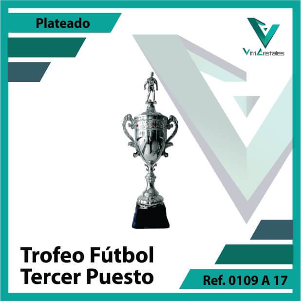 Trofeos de futbol tercer puesto Ref.0109A173PLA para entrega en Bogotá, Medellin, Cali o para envio a todo el pais