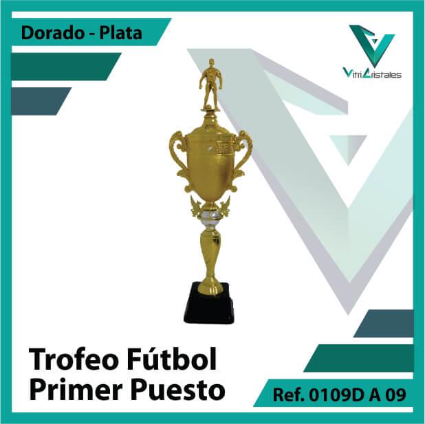 Trofeos deportivos de futbol campeon Ref.0109DA091PLA para entrega en Bogotá