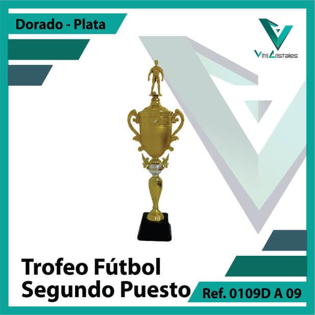 Trofeos deportivos de futbol subcampeon Ref.0109DA092PLA para entrega en Bogotá
