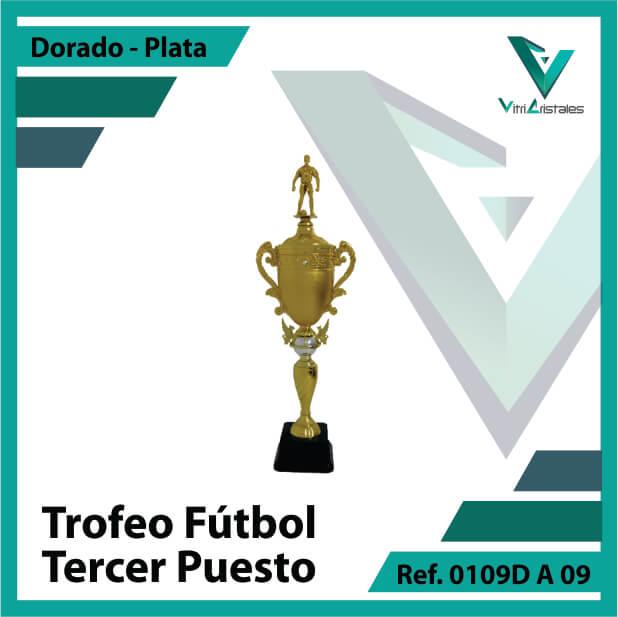 Trofeos deportivos de futbol tercer puesto Ref.0109DA093PLA para entrega en Bogotá