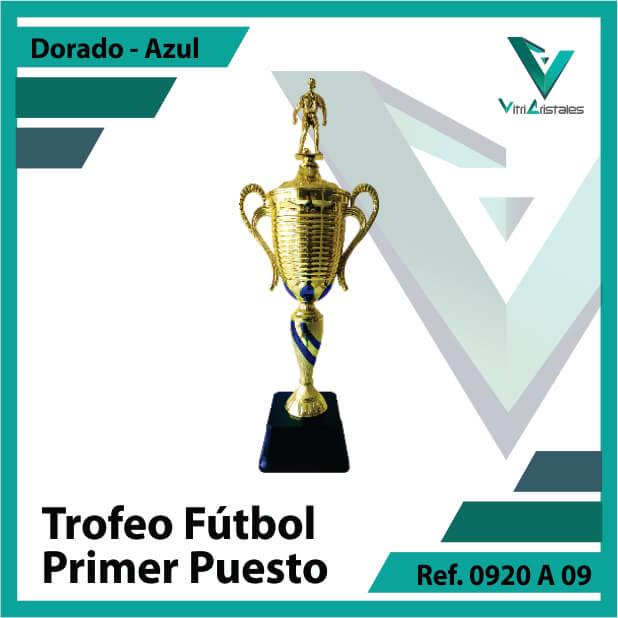 Trofeos deportivos de futbol campeon Ref.0920A091ORA para entrega en Bogotá