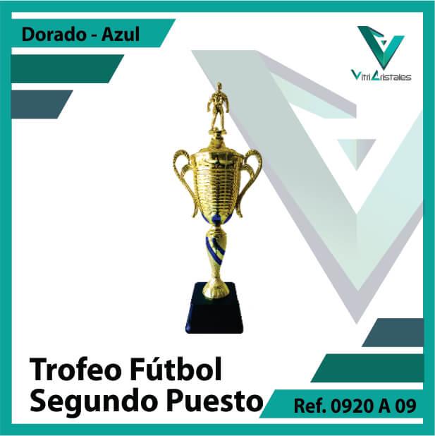 Trofeos deportivos de futbol subcampeon Ref.0920A092ORA para entrega en Bogotá