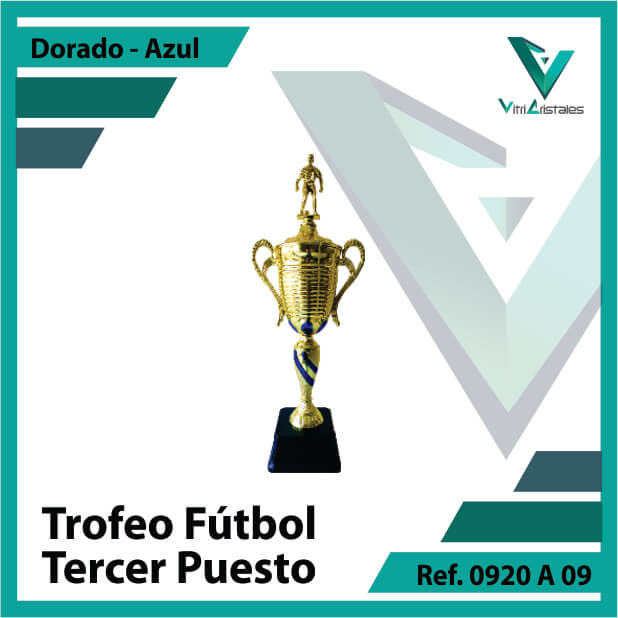 Trofeos deportivos de futbol tercer puesto Ref.0920A093ORA para entrega en Bogotá